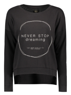 Only Trui onlFENNY L/S PRINT BOX SWT 15133437 Black/ Never