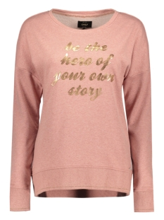 Only Trui onlSARA LS O-NECK SWT 15132620 Light Mahogany/ Rose Gold
