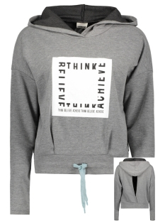 Noisy may Trui NMRANA L/S LOGO SWEAT KBLX 10174237 Grey Melange/ Think Believe