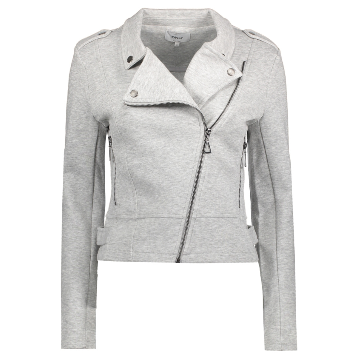 onlnew hit biker jacket noos 15132546 only jas light grey melange