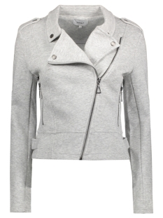 Only Jas onlNEW HIT BIKER JACKET NOOS 15132546 Light Grey Melange
