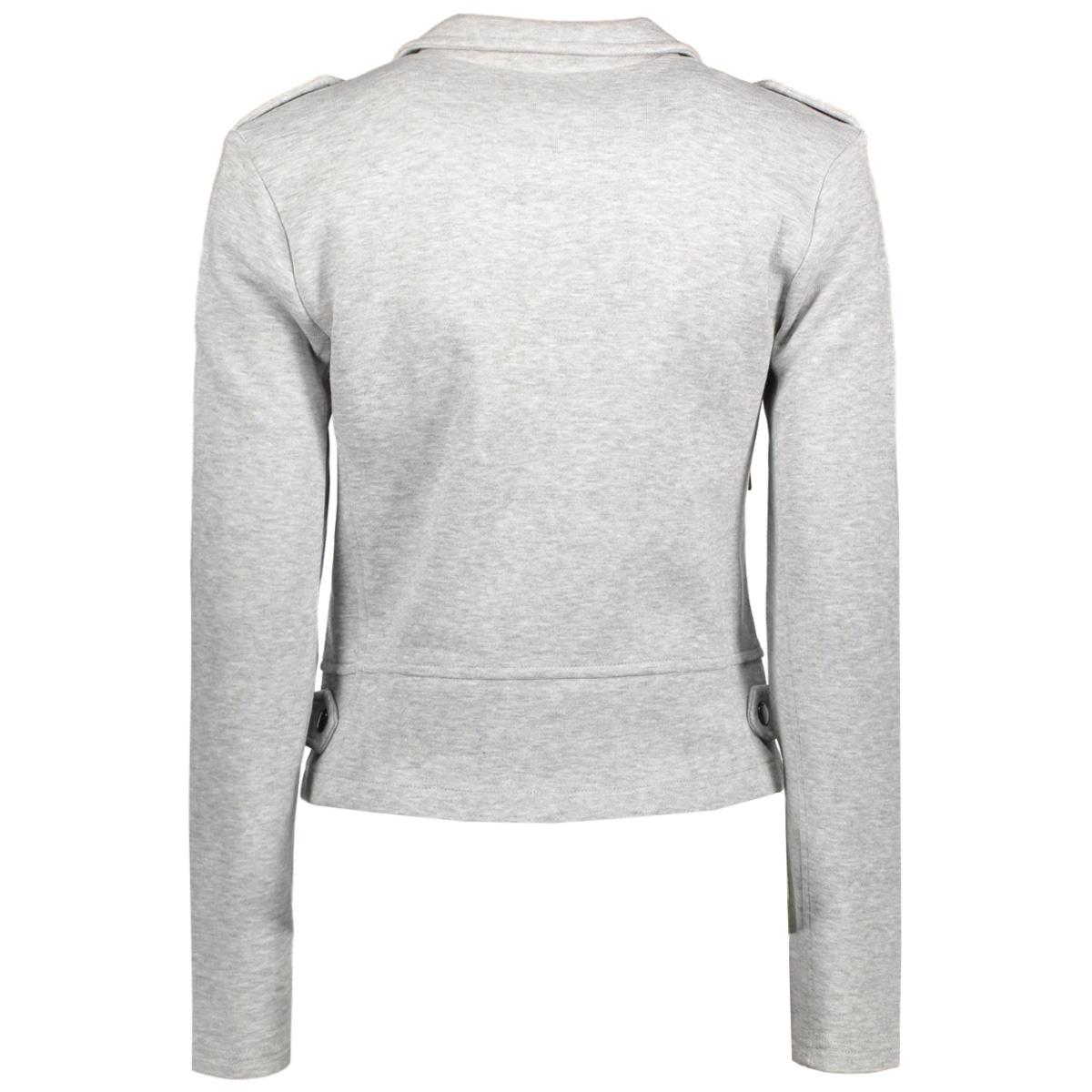 onlnew hit biker jacket noos 15132546 only jas light grey melange
