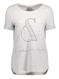 Vero Moda T-shirt VMNIKITA S/S TOP SWT 10175088 Snow White/Melange