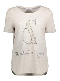 Vero Moda T-shirt VMNIKITA S/S TOP SWT 10175088 Light Grey Melange