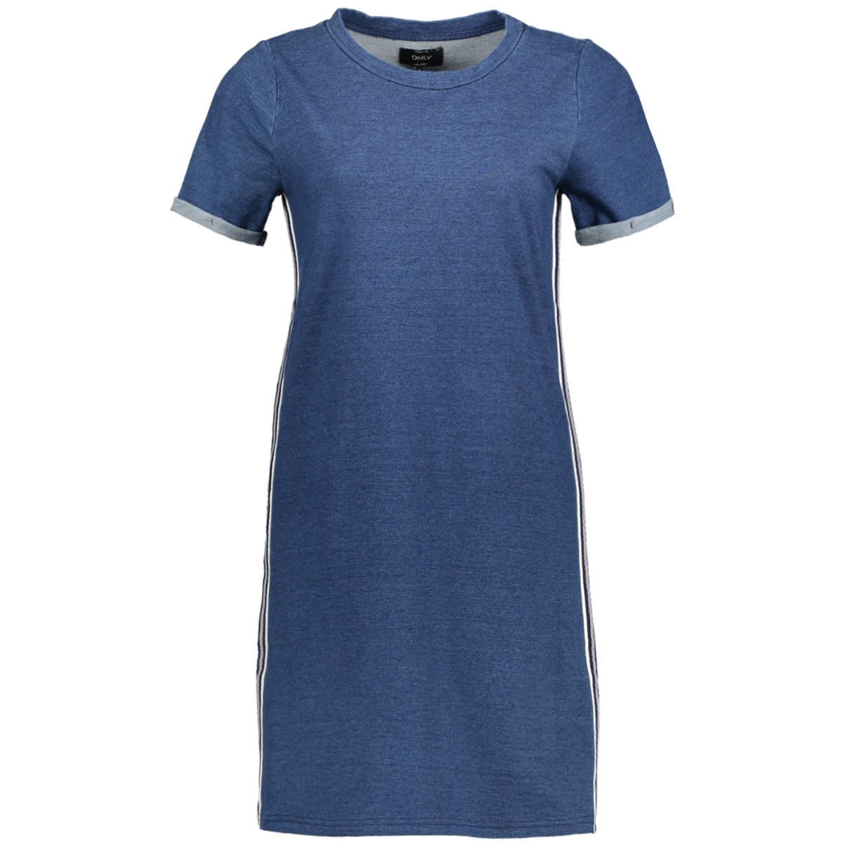 onlcarol s/s dress swt 15135508 only jurk dark blue denim