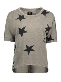 onlSIENNE S/S STAR SWT NL 15141514 Tarmac/Stars