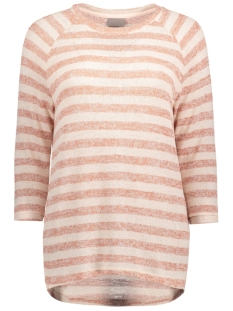 Vero Moda Trui VMALMOND ROSE 3/4 BLOUSE LOCAL 10175657 Peach whip/Cedar Wood