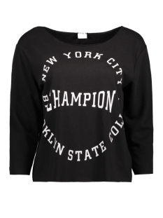 Jacqueline de Yong Sweater JDYFREAK 3/4 PRINT SWEAT SWT 15134053 Black/Champion