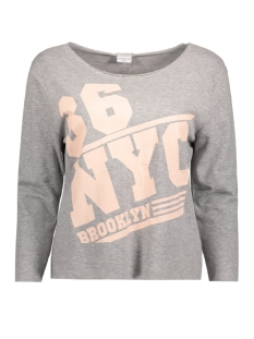 Jacqueline de Yong Sweater JDYFREAK 3/4 PRINT SWEAT SWT 15134053 Light Grey Mela/86 NYC