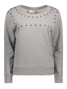 Vero Moda Sweater VMMAGGI STUD LS SWEAT DNM 10166299 Light Grey Melange