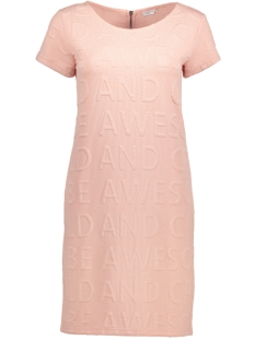 Jacqueline de Yong Jurk JDYMAKI S/S ZIP DRESS SWT 15138917 Cameo Rose