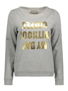 Vero Moda Sweater VMGABRIA L/S SWEAT NFS BOX 10176142 Light Grey Melange/ Foil Gold