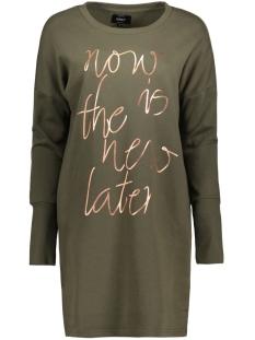 onlNEW LANGE L/S SWEAT DRESS SWT 15145824 Kalamata/Rose Gold