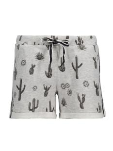 Only Korte broek onlPANU AOP SHORTS SWT 15135891 Light Grey Mela/Cactus Ros