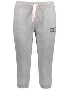 Only Play Sport broek onpGILL 3/4 SWEAT PANTS 15130912 Light Grey Mela