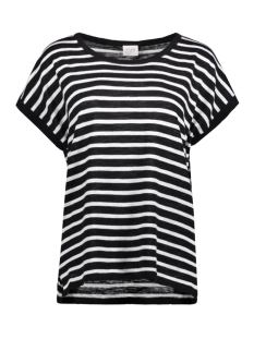 Vila T-shirt VISTARLY STRIPE S/S KNIT TOP/1 14043689 Black/Cloud Danc