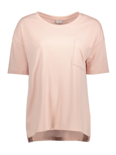 Jacqueline de Yong T-shirt JDYMERLE S/S POCKET TOP SWT 15142864 Rose Smoke