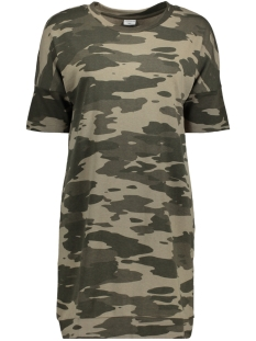 Jacqueline de Yong Tuniek JDYADDA 2/4 LONG PRINT SWEAT SWT 15140246 Simply Taupe/Camouflage