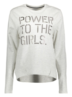 onlALEMA L/S PRINT BOX SWT 15142378 Oatmeal/Power To T