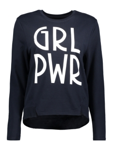 Only Sweater onlALEMA L/S PRINT BOX SWT 15142378 Sky Captain/Grl Pwr