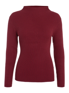 Pieces Trui PCDESLA LS KNIT 17079727 Tibetan Red