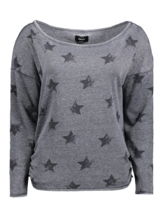 Only Sweater onlGALAXY L/S OFF SOULDER SWT 15142388 Black