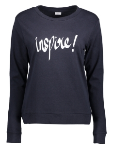 Jacqueline de Yong Sweater JDYMILLY L/S PRINT SWEAT SWT RPT 15133660 Dark Navy/ Inspire