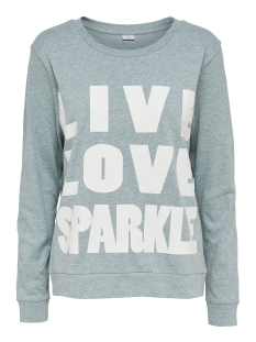 Jacqueline de Yong Sweater JDYMILLY L/S PRINT SWEAT SWT RPT 15133660 Blue Haze