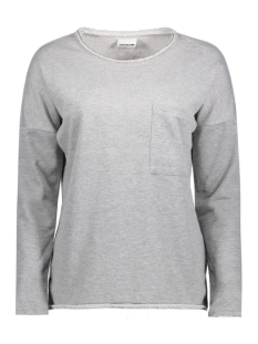 Noisy may Sweater NMCHRISTIAN L/S O-NECK SWEAT 4B 10180318 Light Grey Melange