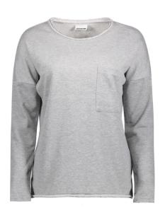 Noisy may Sweater NMCHRISTIAN L/S O-NECK SWEAT 4B 10180318 Light Grey Melange