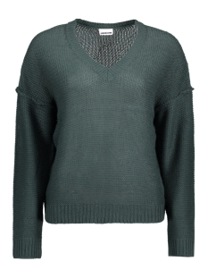 Noisy may Trui NMVERONA REVERSE L/S V-NECK KNIT 5M 10180579 Green Gables