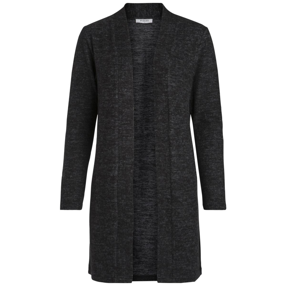 pcamila cardigan ff noos 17083139 pieces vest dark grey melange