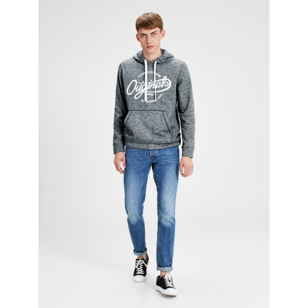 jorpanther sweat hood noos 12125053 jack & jones sweater total eclipse