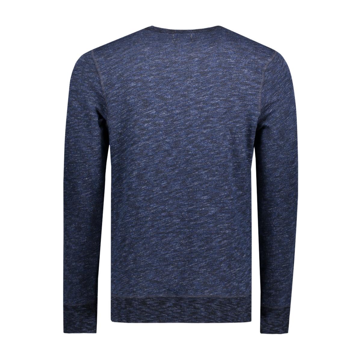 jjvrugged melange sweat crew neck noos 12127405 jack & jones sweater mood indigo