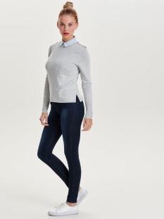 onldina l/s pullover knt noos 15142902 only trui light grey melange