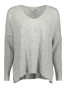 onlmaye l/s v-neck pullover cc knt 15138229 only trui light grey melange