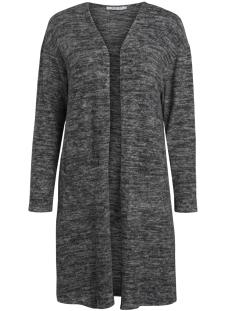 pcjolie ls cardigan 17084246 pieces vest dark grey melange