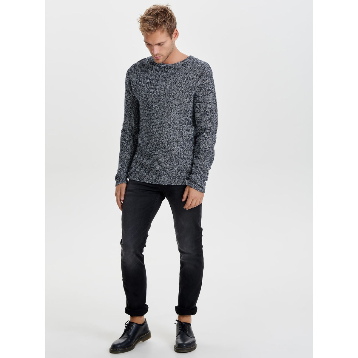 onssato multi clr knit noos 22007296 only & sons trui black