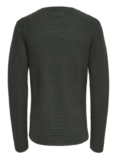 onssato multi clr knit noos 22007296 only & sons trui darkest spruce