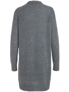 pcjane ls long wool knit noos 17082986 pieces jurk medium grey melange