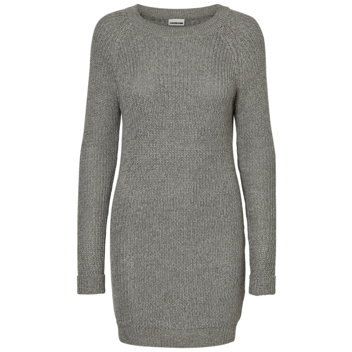 nmsiesta l/s o-neck knit dress b 10155358 noisy may jurk medium grey melange