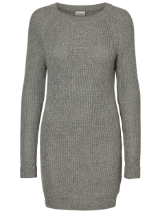 Noisy may Jurk NMSIESTA L/S O-NECK KNIT DRESS B 10155358 Medium Grey Melange