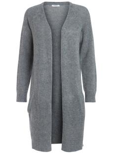Pieces Vest PCJANE LS LONG WOOL CARDIGAN NOOS 17082985 Medium Grey Melange