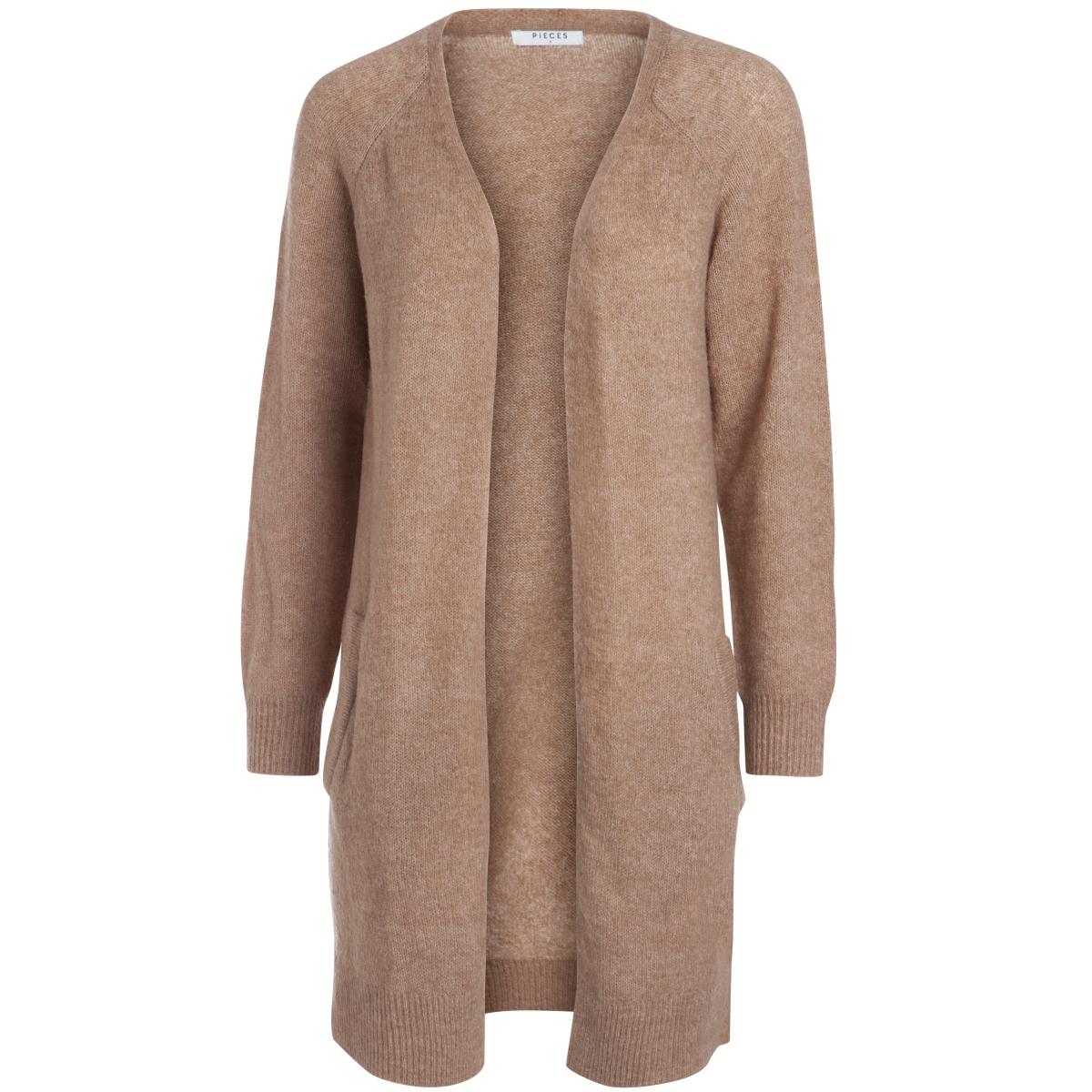 pcjane ls long wool cardigan noos 17082985 pieces vest ginger snap
