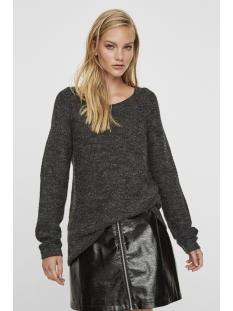 vmzoe joya ls boatneck blouse noos 10179354 vero moda trui dark grey melange