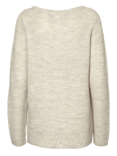 vmzoe joya ls boatneck blouse noos 10179354 vero moda trui light grey melange/snow