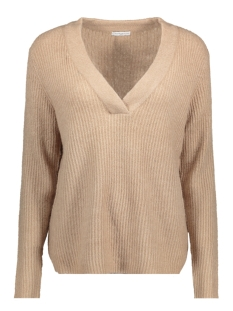 Jacqueline de Yong Sweater JDYGOLD L/S V-NECK PULLOVER KNT 15133644 Simply Taupe