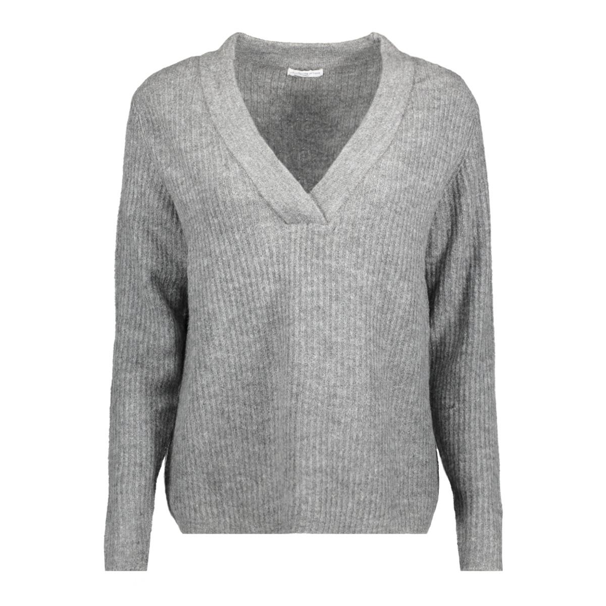 jdygold l/s v-neck pullover knt 15133644 jacqueline de yong sweater dark grey melange