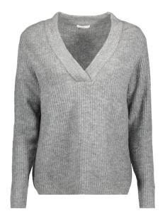 Jacqueline de Yong Sweater JDYGOLD L/S V-NECK PULLOVER KNT 15133644 Dark Grey Melange