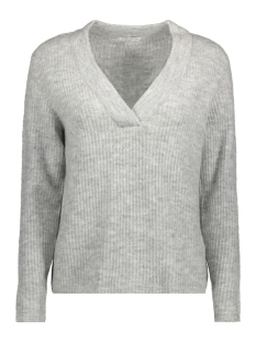 jdygold l/s v-neck pullover knt 15133644 jacqueline de yong sweater light grey melange